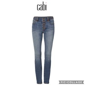 Cabi Button Fly Skinny Jeans